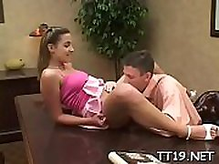 Beautiful young playgirl spreads wide for her teacher&039s rod