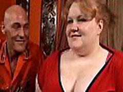 Chap fingers and fucks luscious pussy of one nasty fat woman