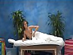 Watch this hot and slutty 18 yea rold get fucked hard from behind by her masseur