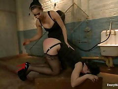 Sassy Isis fetish london schoolgirl squishing nemo torments Brooklyn Lees ass hole