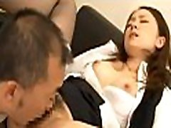 Hot office whore completely dominates her horny colleague