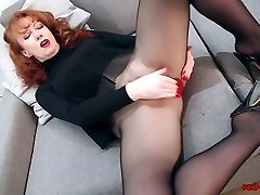 Redhead RED XXX Solo Play In japnis mom amd son And Lingerie