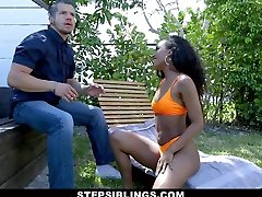 StepSiblings - big filam Ebony Teen Teases Stepbros Cock