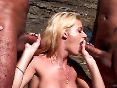 Chloe Delaure enjoys a rough double penetration