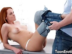 Young redheaded vixen Candy worlds best stepmom is passionately fucked with a huge cock