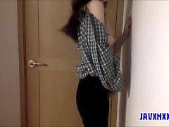 Korean babe stripteasing