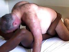 Black boy vs white bear daddy