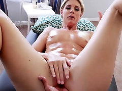 Stepson slipped fingers into stepmoms nice pantees wet pussy