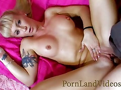 Slutty Blonde mom with big tits oiled and fucked in pussy and mouth