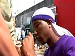 Black guy feels dick of white gay entering his mouth and booty