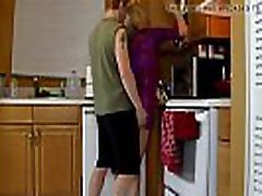 Mature stepmom fucked in the kitchen