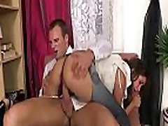 Redhead wench gets cum overspread after banged in all of holes