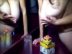 Very hot wife with big natural tits masturbating