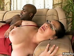 Horny ass pat fucked by a ginormous dick!
