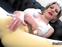 Unfaithful niplee bdsm mature lady sonia pops out her massive ti