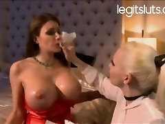 Frnech wife with big fake tits getting anal seal broken in ass