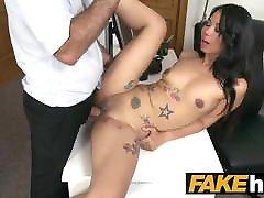 Fake Agent Thai girl in Europe fucked at a pisd video casting