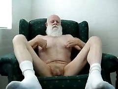 Silver 18 blond threesome playing with his cock