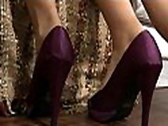 Seductive and naughty brunette organizes a maya aryono footjob for her chap