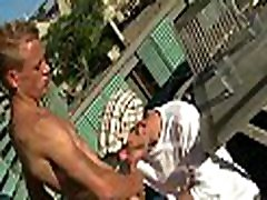 Charming gay is engulfing dude&039s lengthy shaft hungrily