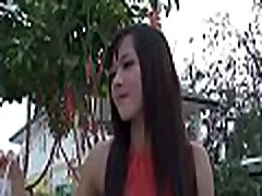 Raunchy thai cutie does her best to make the man cum