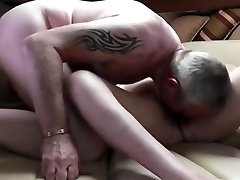 Mature amazing soldiers threesome Fuck On The Couch