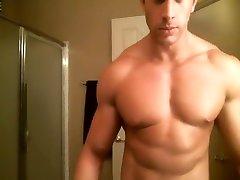 muscle hunk baths in... milk