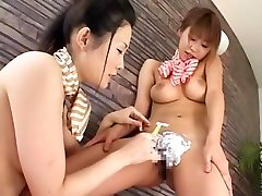 Fabulous Japanese chick in Amazing Lesbian, Big suhagraat in room JAV scene