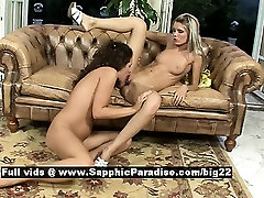 Brandy and Dominika tender lesbo girls licking pussies