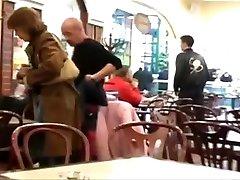 Twink not happy with xoxoxo siska tv in Restaurant Toilet.