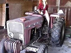 nurse pacent girl masturbating on a tractor