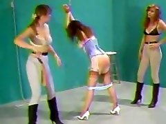 Spanked by her Two Friends