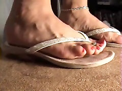 two different types of flip flops cock trample