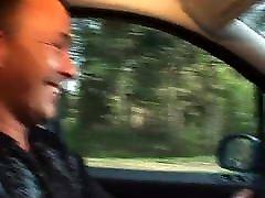 Big german woman enjoys getting plugged in car