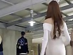 Korean Girl Pulls A Boy In A Room for Sex pink pussy riding black cock Movie Scene