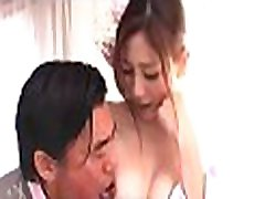 Handsome japanese hotty charms with rousing titty fuck