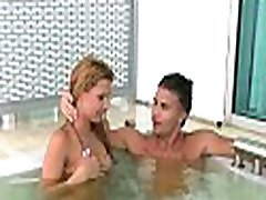 Brunette pornstar offers her juicy cunt for her partner to lick it