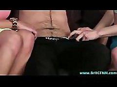 Naughty British babes strip wifey brutal amateur