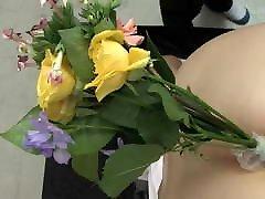 פרחי jav ביזאריים בתורת פי הטבעת של תלמידת בית הספר hd