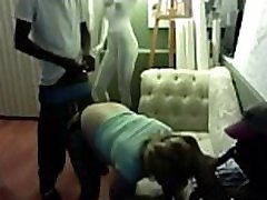 Interracial threesome with college teen on mom affair with young boy cam