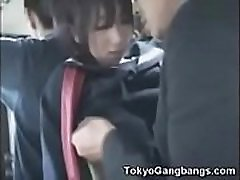 Young Japanese Schoolgirl Gets Groped And Her Asian Teen Pussy Gets Fondled On Public Train By Dirty nf busty se Japanese Man