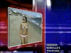 Carmen Electra bikini video on the beach