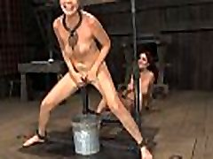 Lusty honey is tying up pleasing honey for torture session