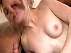 Aroused darling gives precious fellatio during wild sex