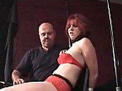 Wicked bitch relishes some real coarse bondage action