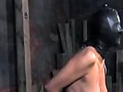 Sexy girl is tearing up from her hardcore torture