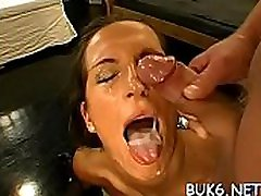 Sweethearts getting coarse and lusty hardcore pussy drilling
