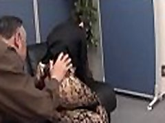 Shy honey enchants her horny older colleague in the office