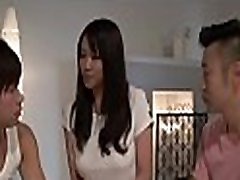 Japanese hottie with hot baby foll fuck arouses with blowjob and titty fuck