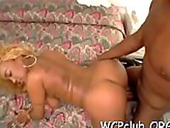 Girl performing nice rodeo on one-eyed monster after sucking it so well